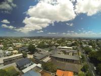 Ausblick von der Drohne über Auckland