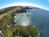Bucht in Hahei - Luftaufnahme