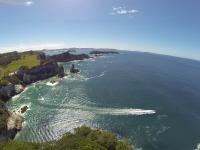 Bucht in Hahei - Luftaufnahme IV