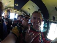 Fallschirmsprung: noch im Flieger