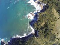Bucht in Hahei - Luftaufnahme V