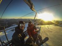 Sonnenuntergang Coronet Peak