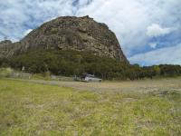 Maungaraho Rock von unten
