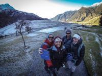 Rob Roy Gletscher Wanderung - Selfie vom Selfie
