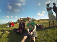 Mt. Eden mit Sarah