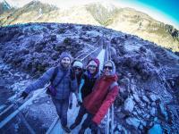Rob Roy Gletscher Wanderung - Ludo, Lea, Sarah & ich