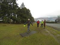 Frisbee Golf mit dem franz. Trio & Billy