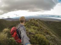 Mt Taranaki - weiterer Abstieg