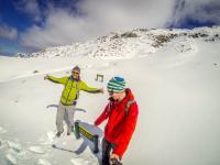 Schnee am Sealy Tarns Track