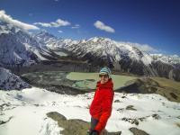 Selfie mit Mt. Cook