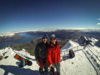 Selfie mit Aussicht auf Lake Wakatipu