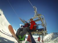 ... snowboarding
