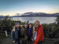 Lake Hawea mit der Truppe