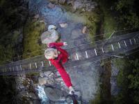 Wainui Falls - Swingbridge