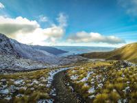 Der Weg von der Hütte zum Gipfel