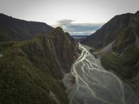 Fox Gletscher - Luftaufnahme