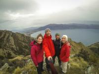 Gruppenselfie: Elana, ich, Pierre, Sarah