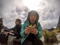 Lauren und ihr Sandwich