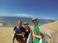 Sandboarding in Ahipara mit Tobi & Sarah