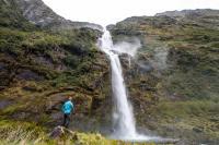 Beobachter der Sutherland Wasserfälle
