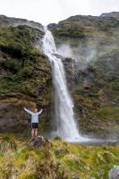Jessie an den Sutherland Falls