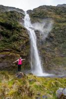 Lauren an den Sutherland Falls