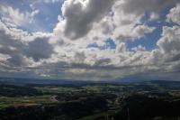Aufziehende Wolken vor Zürich