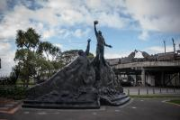 Rugby Statue