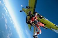 Fallschirmsprung: und los